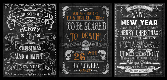 Amazing Chalkboard Designs from Downloadsoho.com -  Unique premade templates, chalkboard signs, posters, wall art. Easy to use in minutes