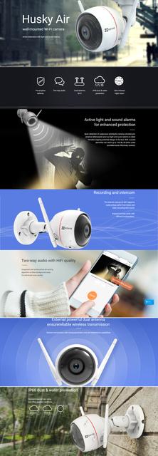 Surveillance Cameras Hikvision Ezviz Husky Air Wireless