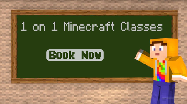 1 on 1 Minecraft Classes - Book Now