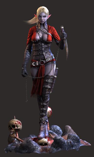 dark elf assassin final render full by bushidou2012 d5wh4px