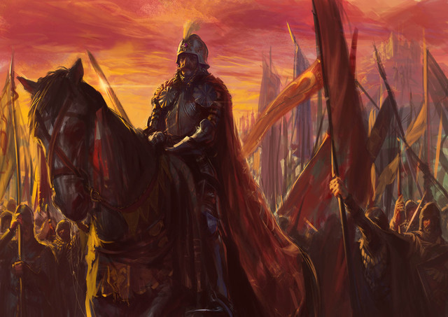vlad the impaler leading his army by catalinianos daf51sx