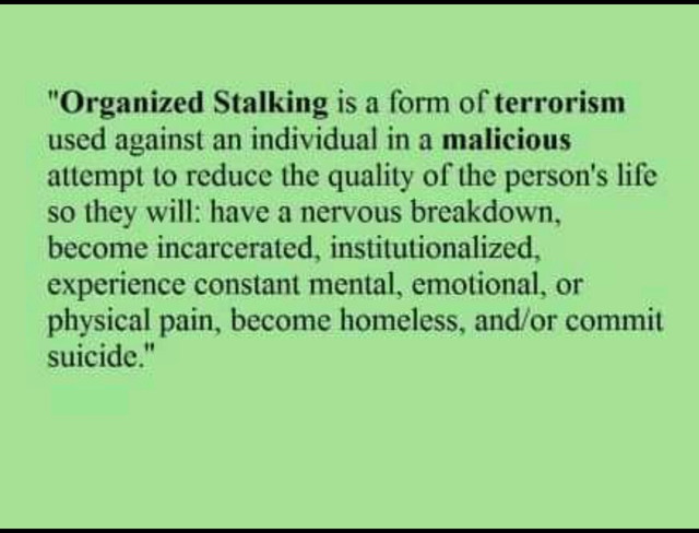 My Experience with Organized Gangstalking and Being a
