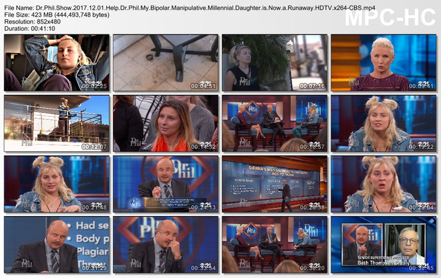 Dr Phil Show 2017 12 01 Help Dr Phil My Bipolar Manipulative Millennial Daughter is Now a Runaway HDTV x264-CBS
