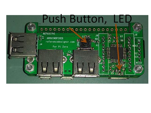 Arduinopixed integrated usb hub and arduino for pi zero
