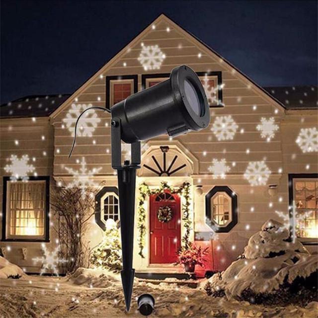Projector snowflake led light landscape laser moving xmas lamp projector snowflake led light landscape aloadofball Images