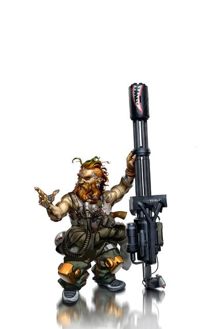 Grinder char dwarf by wideshot design d6288qi