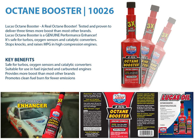 Details about Lucas Oil Octane Booster Racing Formula 3x Boost stops Petrol  Fuel 444ml