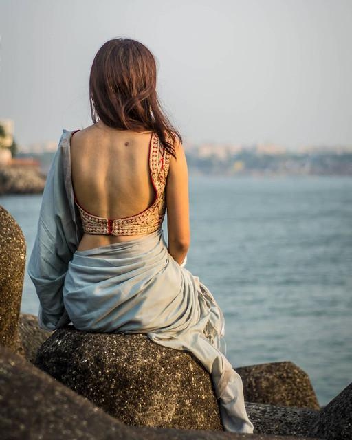 hot low back cut blouse