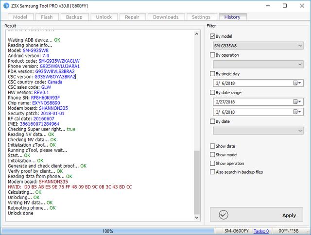 SM-G935W8 Latest Security Binary 3 Unlock Done By Z3X Box - GSM-Forum