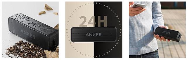 Boxa portabila Anker SoundCore 2. Distanta 20 de metri, autonomie 24 de ore