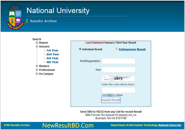 NU Honors Result