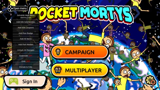 🎮 MOD APK - {Mod Menu} Pocket Mortys v2 4 7 Mega Mod | Sbenny's Forum