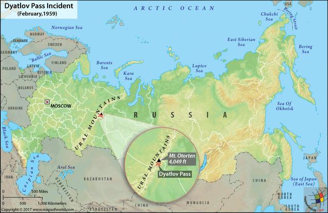 Dyatlov pass map 12