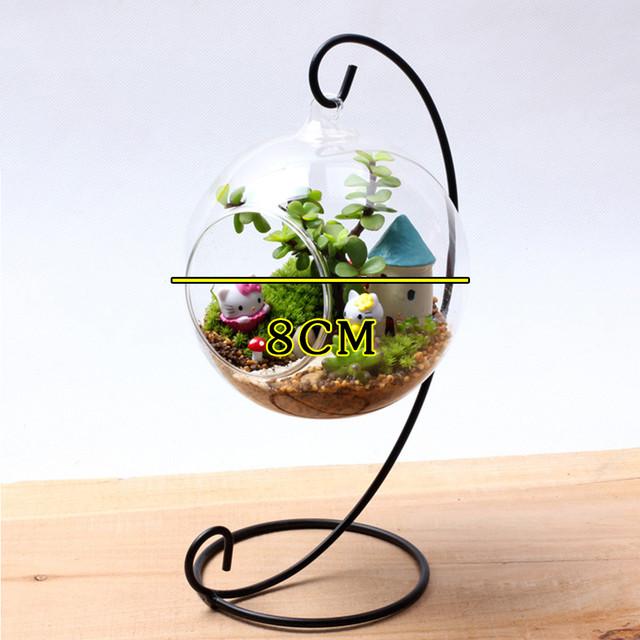 Glass Vase Hanging Flower Terrarium Container Clear Ball Garden Wall