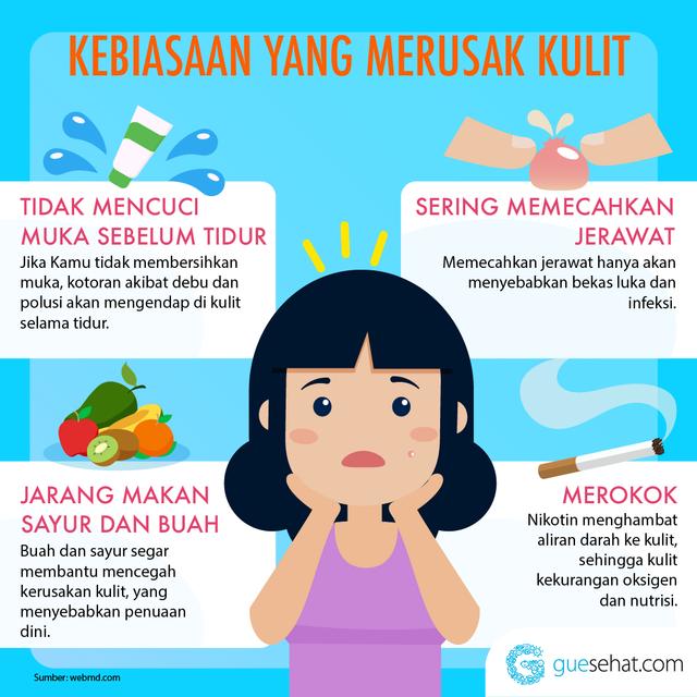 kebiasaan merusak kulit