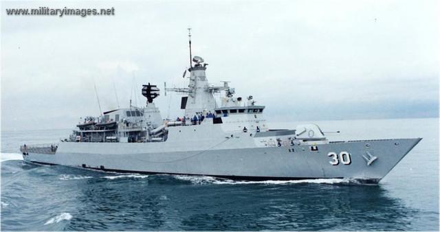 Malaysian Navy frigate KD LEKIU