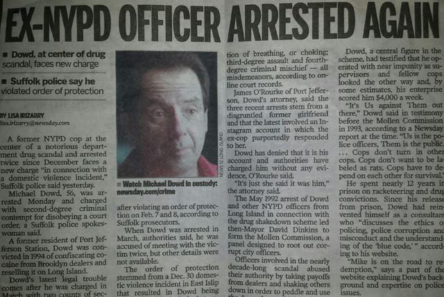 Michael Dowd arrested again