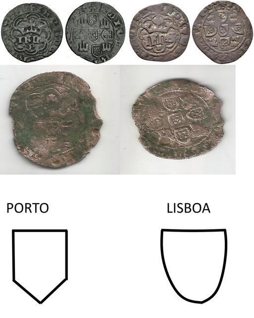 Real de Juan I de Portugal 1385-1433 Oporto Omni