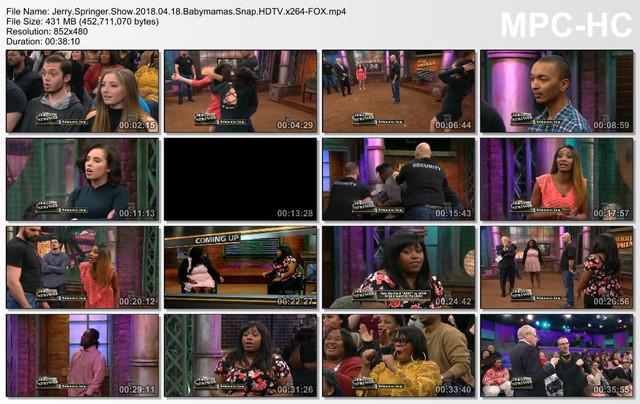 Jerry Springer Show 2018 04 18 Babymamas Snap HDTV x264-FOX mp4