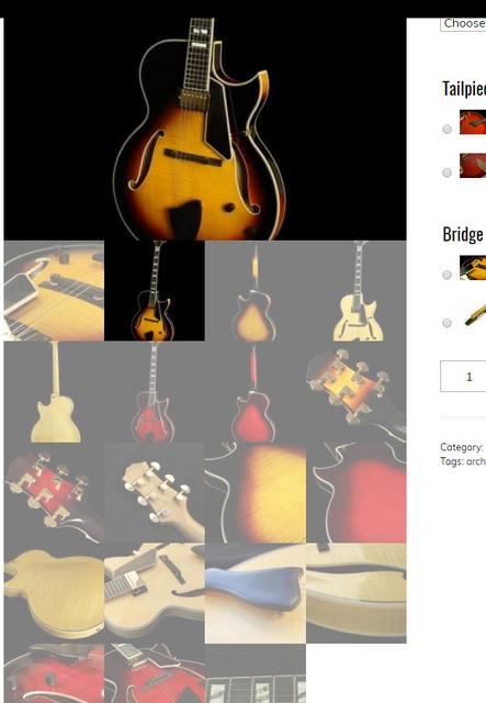 thumbnails under product image