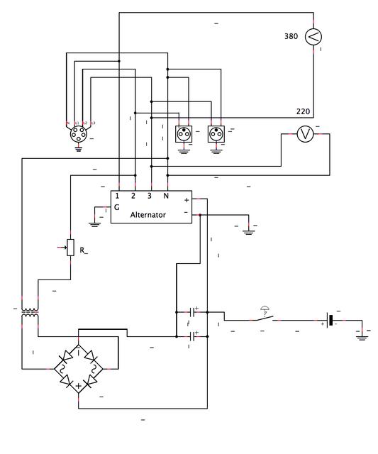Diagram - Branchement groupe electrogene sur tableau electrique ...