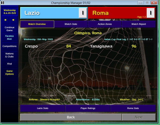 Challenge 10 - ODB (3 9 60) - When in Rome    [Archive] - CM 01/02