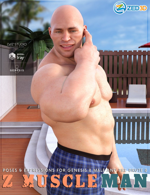 Z Muscleman - Poses and Expressions for Genesis 8 Male and The Brute 8