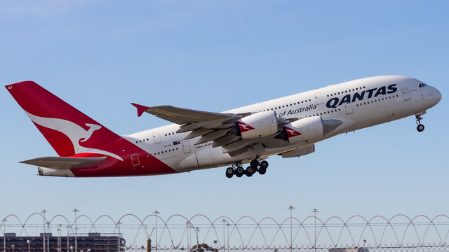 Qantas A380 VH OQJ Bert Hinkler 190618 V1