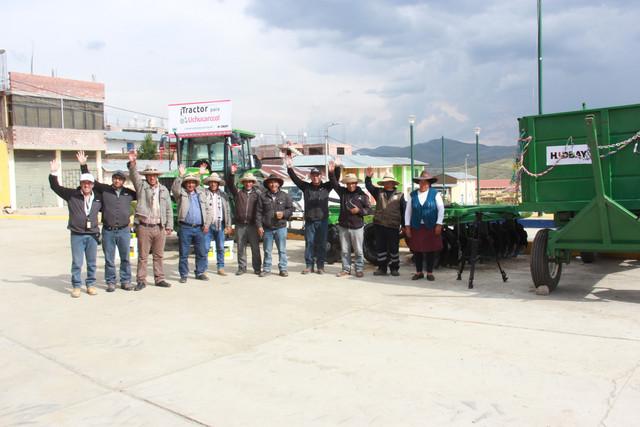 CHUMBIVILCAS:Hudbay Perú entregó tractores y equipos agrícolas a las comunidades campesinas de Chilloroya y Uchucarcco