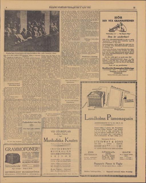 helbild dagens nyheter torsdag 8 april 1926 sida 11 jp2
