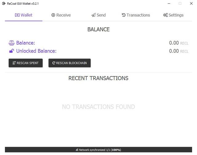 ReCoal GUI Wallet v0.2.1