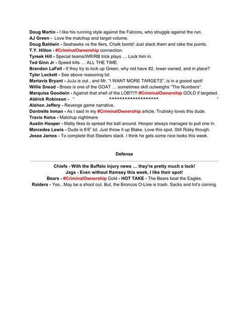 Fan Cave OTC Cheat Sheet 2