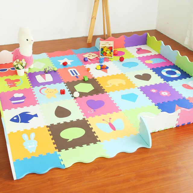 Baby Play Mat Puzzle Stitching Foam Interlocking Floor Tiles Baby ...