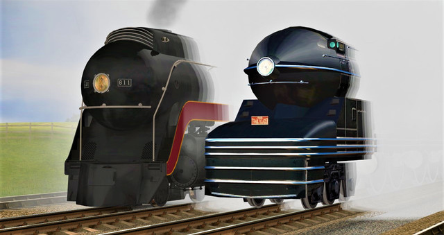 N&W J Class and PRR S1