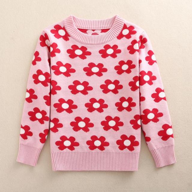 a925f0c0e Sweater Baby Girls Pullover Warm Girl Outerwear Kids Knitting Winter ...