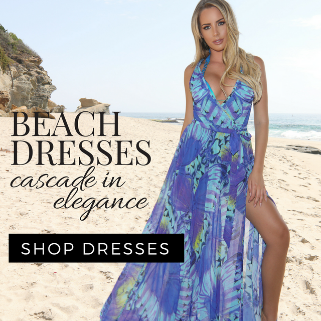 luxury beach summer dress