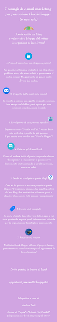 email marketing per promuovere un libro fra i book blogger