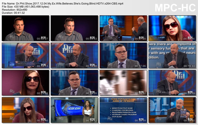 Dr Phil Show 2017 12 04 My Ex Wife Believes She's Going Blind HDTV x264-CBS