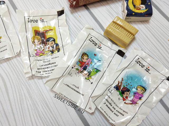 Пять конфет с вкладышами