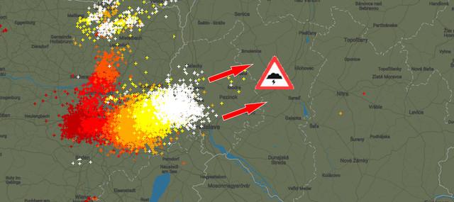 Búrka smeruje na Slovensko.