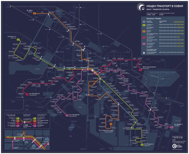 map nigt transport sofia