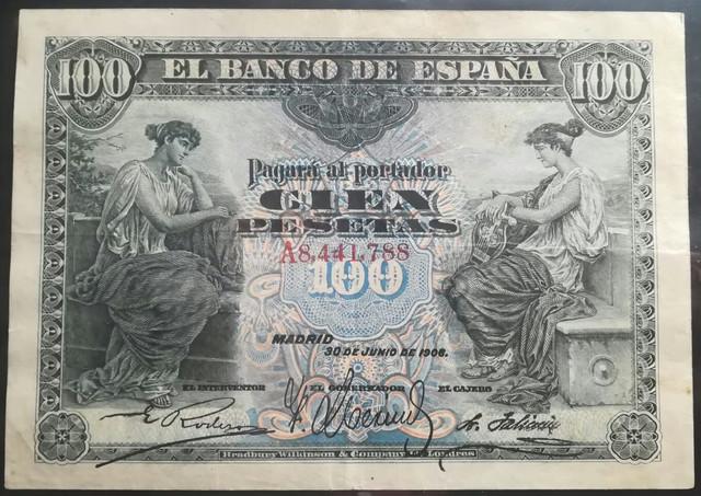 100 pesetas 1906 1