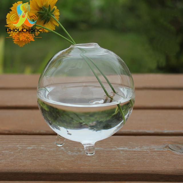 Terrarium Vase Glass Round Clear Bottle Flower Planter Ball Bowl