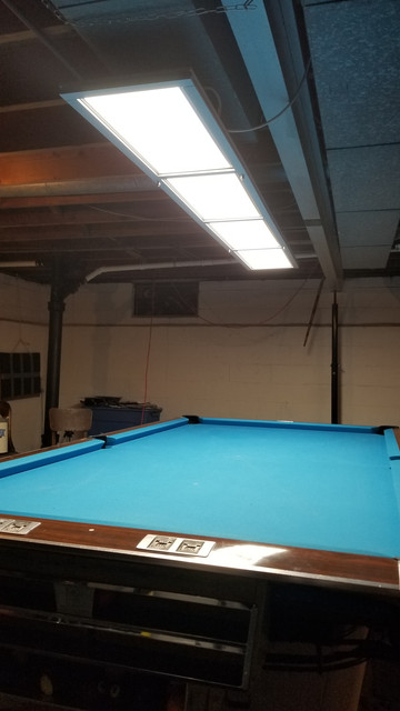 Led light azbilliards for the install as well as the steel cables to suspend the light feng will send the right application according to what your overhead is that you are greentooth Choice Image