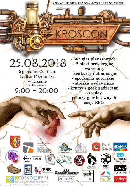 program i plakat podkarpackiego konwentu gier planszowych i fantastyki KrosCon