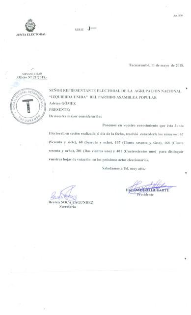 Tacuarembo 67 68 167 168 201 401
