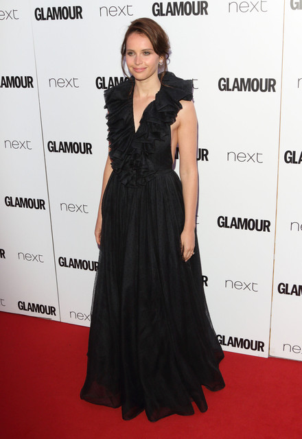 London UK Felicity Jones at Glamour Women Of The Year Awards at Berkeley Square Gardens London on Ju