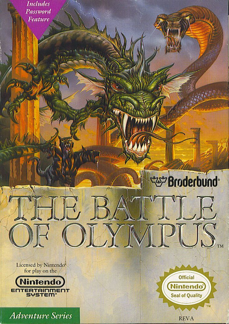 38427 the battle of olympus nes front cover