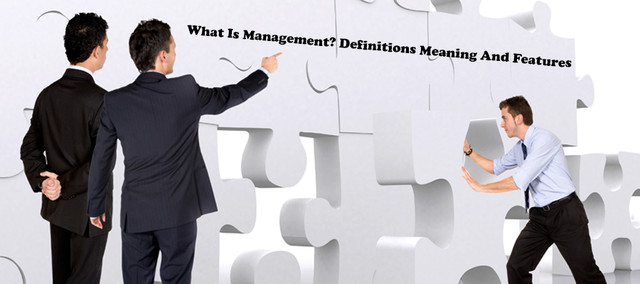 What Is Management? Definitions Meaning And Features